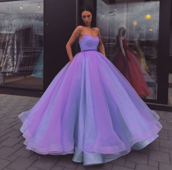 Best Sweetheart Tulle Ball Gown Prom Dress_2