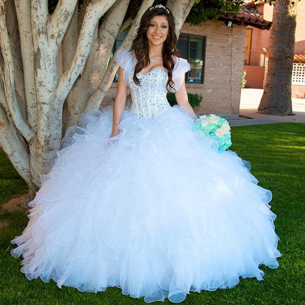 Chic Sweetheart Tulle Ball Gown Quinceanera Dress_1