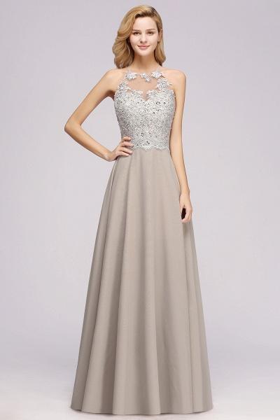 BM0794 Exquisite Lace Sleeveless Side Slit Bridesmaid Dress_3