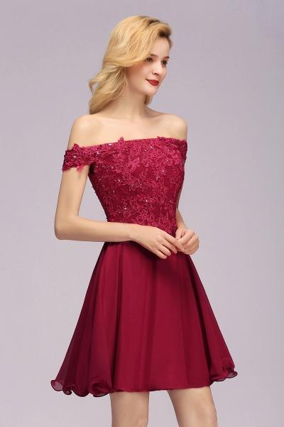 BM0793 Elegant Lace Off-the-Shoulder Short Bridesmaid Dress_5