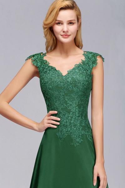 BM0796 A-line Lace Front-Slit Long Bridesmaid Dress_7