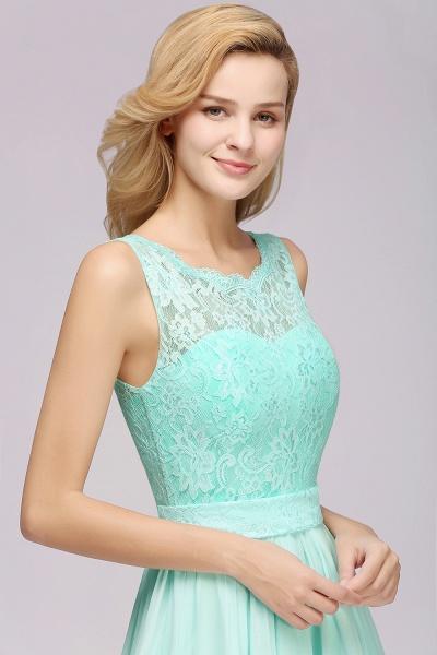 BM0834 Chiffon A-Line Lace Scalloped Sleeveless Long Ruffles Bridesmaid Dress_6