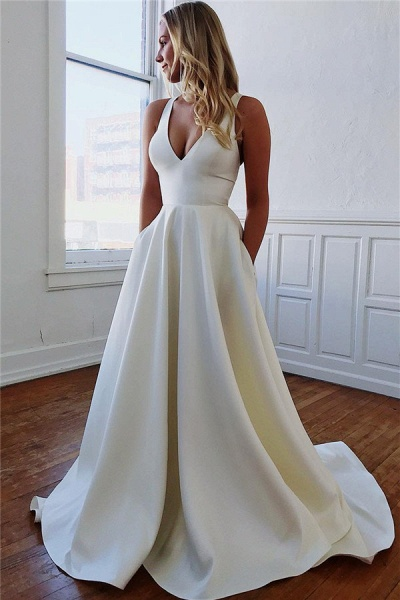 Excellent Straps Bow A-line Prom Dress_1