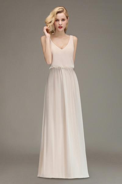 BM0033 Elegant Straps Sexy V-Neck Long Bridesmaid Dress_4