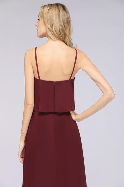 A-Line Chiffon Spaghetti-Straps V-Neck Sleeveless Floor-Length Bridesmaid Dress_40