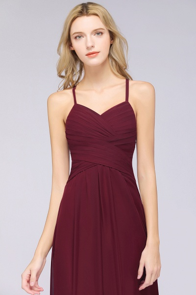 A-Line Chiffon Halter V-Neck Sleeveless Floor-Length Bridesmaid Dress with Ruffles_41