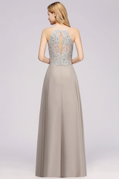 BM0794 Exquisite Lace Sleeveless Side Slit Bridesmaid Dress_2