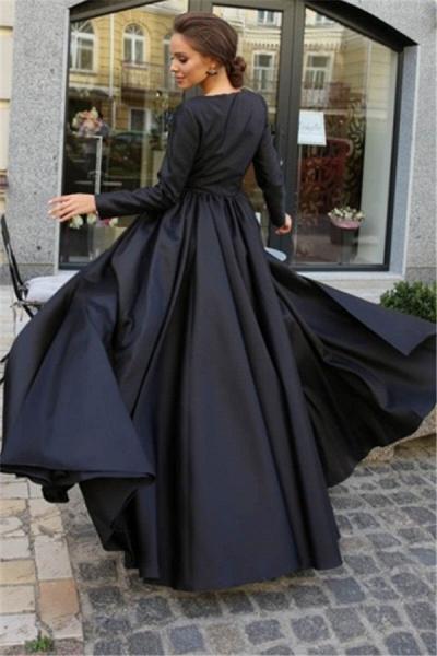 Latest Jewel Split Front A-line Prom Dress_2