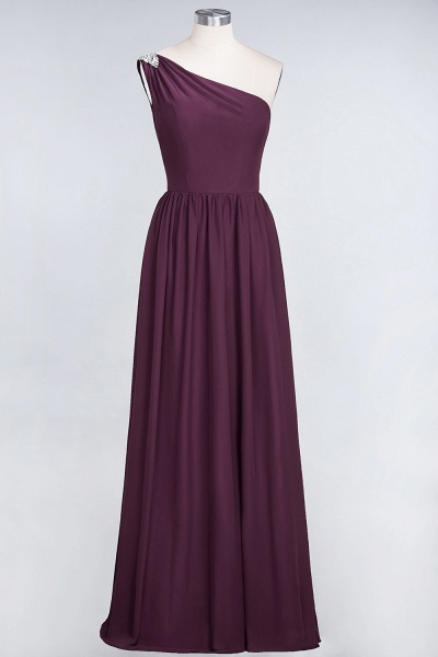 A-Line Chiffon One-Shoulder Sleeveless Ruffles Floor-Length Bridesmaid Dress with Beadings_19