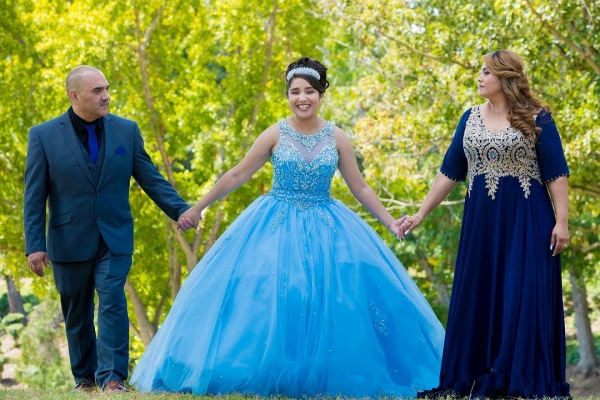 Precious Jewel Tulle Ball Gown Quinceanera Dress_3
