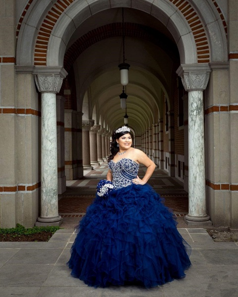 Amazing Sweetheart Tulle Ball Gown Quinceanera Dress_3
