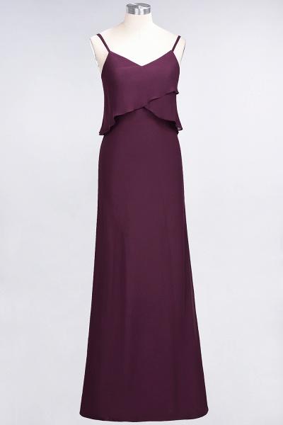 A-Line Chiffon Spaghetti-Straps V-Neck Sleeveless Floor-Length Bridesmaid Dress_19