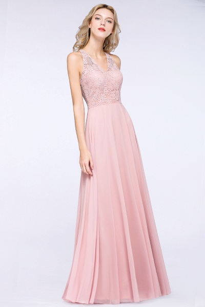 BM0795 Trendy Illusion Lace Sleeveless Bridesmaid Dress_4