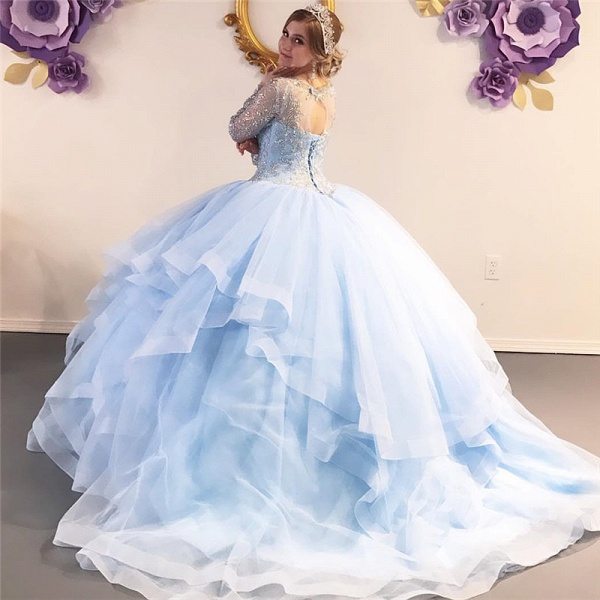 Excellent Jewel Tulle Ball Gown Quinceanera Dress_2