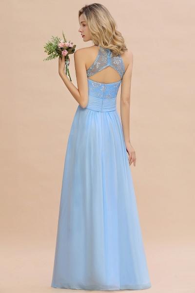 BM0776 Elegant Appliques Jewel Sleeveless Bridesmaid Dress Online_3