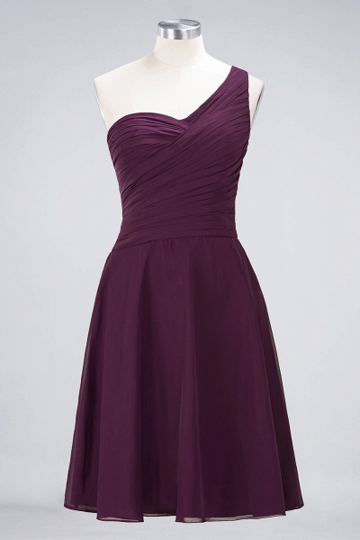 A-Line Chiffon One-Shoulder Sweetheart Sleeveless Knee-Length Bridesmaid Dress with Ruffles_19