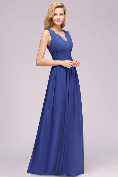 BM0835 Lace Chiffon Jewel Sleeveless Ruffles Short Bridesmaid Dress_53
