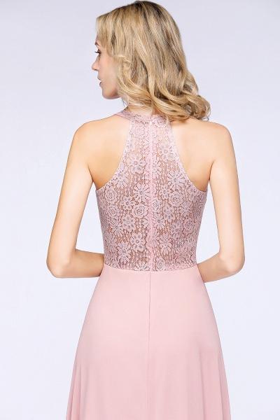 BM0795 Trendy Illusion Lace Sleeveless Bridesmaid Dress_7