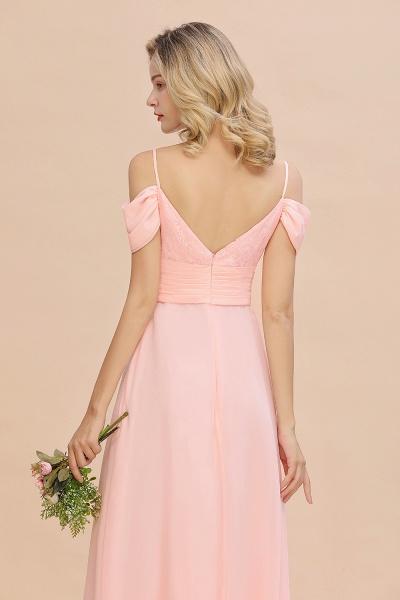 BM0786 Spaghetti Straps Sweetheart Ruffles Bridesmaid Dress_9