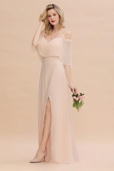 BM0759 Spaghetti Straps Side Split Bridesmaid Dress_7