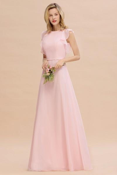 BM0783 Elegant Simple Jewel Sleeveless A-line Bridesmaid Dress_4