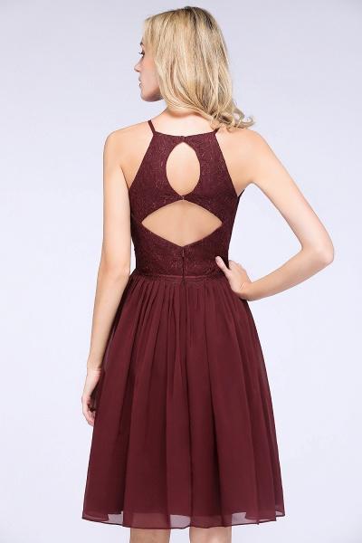 A-line Chiffon Lace Jewel Sleeveless Knee-Length Bridesmaid Dresses with Ruffles_56