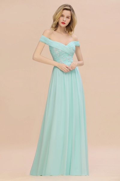 BM0754 Appliques A-line Sweetheart Ruffles Simple Bridesmaid Dress_1
