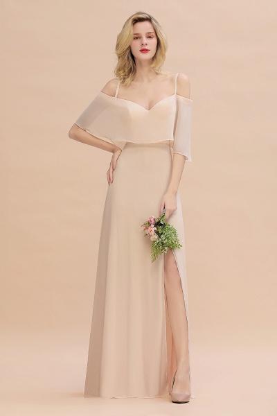 BM0759 Spaghetti Straps Side Split Bridesmaid Dress_2