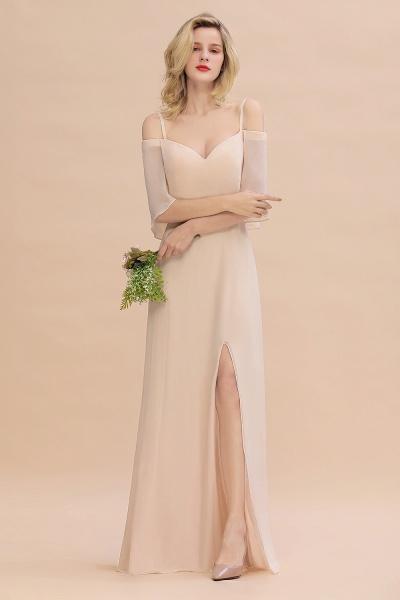 BM0759 Spaghetti Straps Side Split Bridesmaid Dress_4