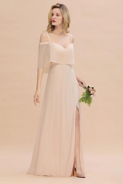 BM0759 Spaghetti Straps Side Split Bridesmaid Dress_6