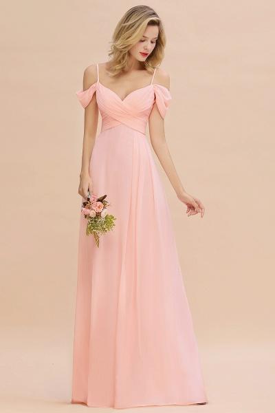 BM0786 Spaghetti Straps Sweetheart Ruffles Bridesmaid Dress_4