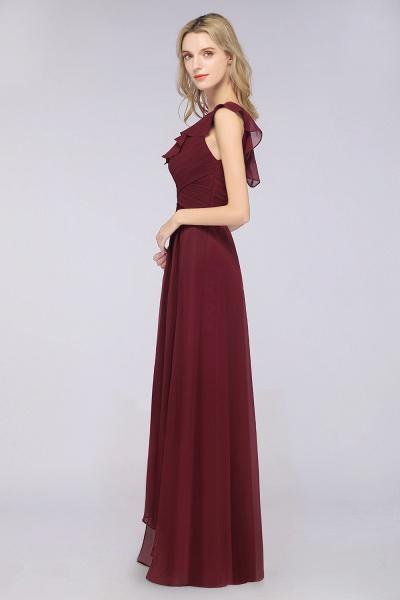 A-Line Chiffon One-Shoulder Sweetheart Sleeveless Floor-Length Bridesmaid Dress with Ruffles_6