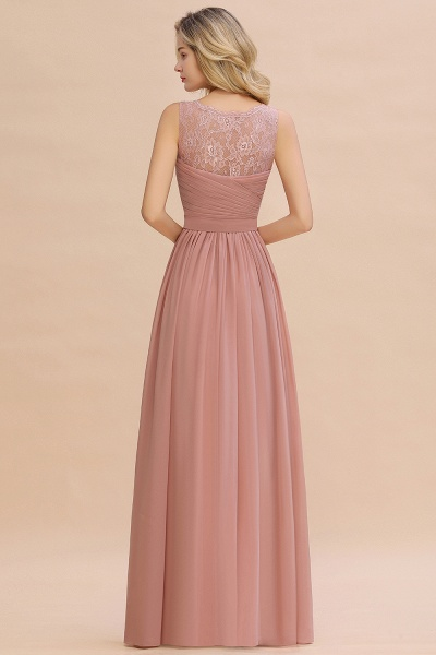 Eye-catching V-neck Lace A-line Evening Dress_14