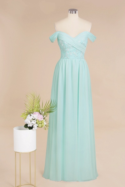 BM0754 Appliques A-line Sweetheart Ruffles Simple Bridesmaid Dress_9