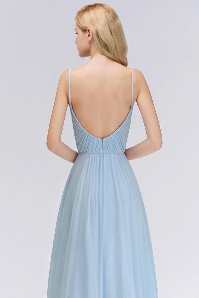 A-Line Chiffon V-Neck Spaghetti Straps Floor-Length Bridesmaid Dresses_7