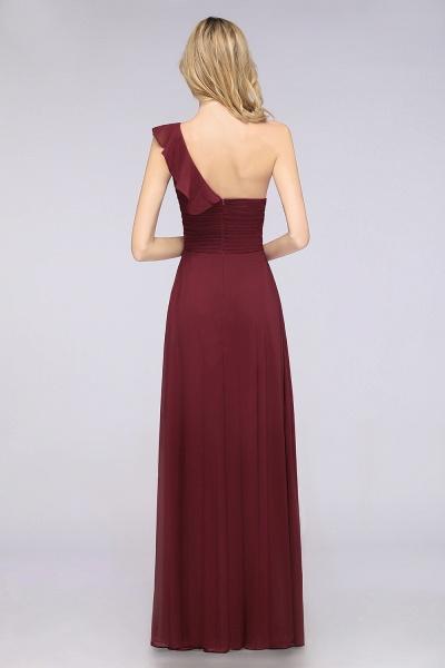 A-Line Chiffon One-Shoulder Sweetheart Sleeveless Floor-Length Bridesmaid Dress with Ruffles_2