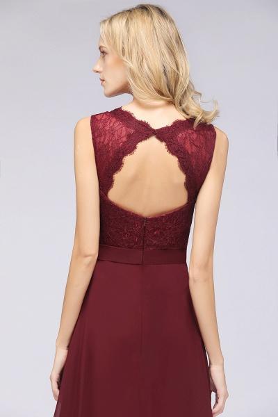 A-Line Chiffon Lace V-Neck Sleeveless Floor-Length Bridesmaid Dress_42