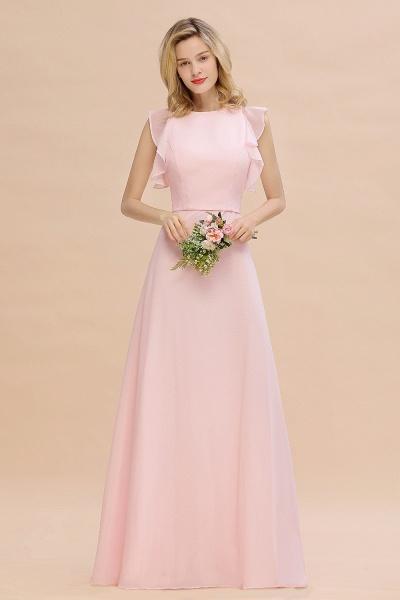 BM0783 Elegant Simple Jewel Sleeveless A-line Bridesmaid Dress_6