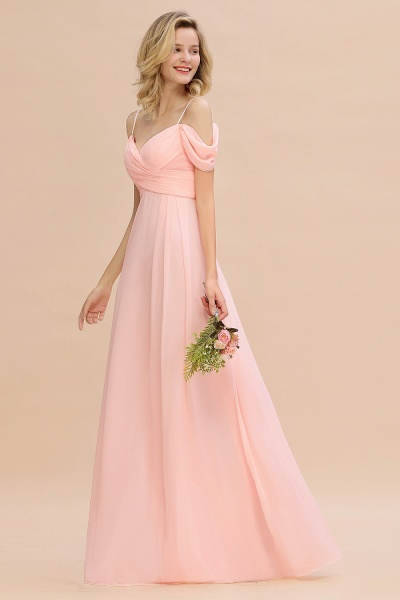 BM0786 Spaghetti Straps Sweetheart Ruffles Bridesmaid Dress_6