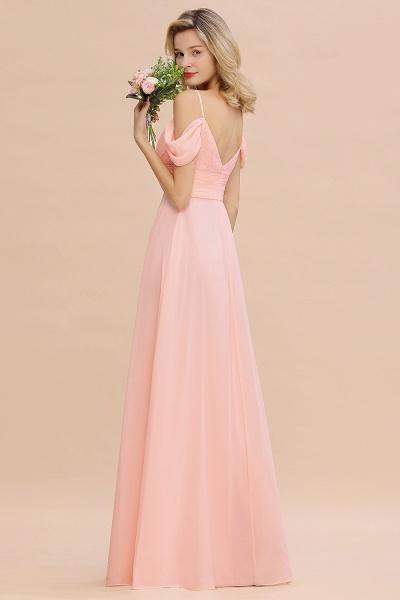 BM0786 Spaghetti Straps Sweetheart Ruffles Bridesmaid Dress_7