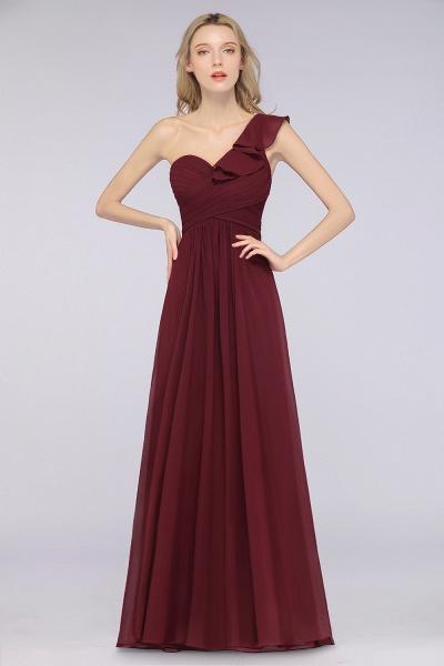 A-Line Chiffon One-Shoulder Sweetheart Sleeveless Floor-Length Bridesmaid Dress with Ruffles_3