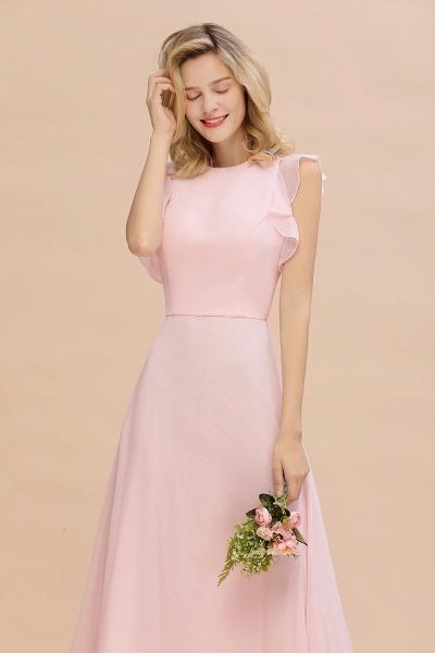 BM0783 Elegant Simple Jewel Sleeveless A-line Bridesmaid Dress_8