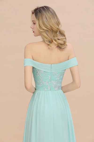 BM0754 Appliques A-line Sweetheart Ruffles Simple Bridesmaid Dress_8