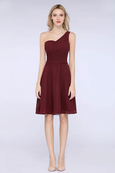 A-Line Chiffon One-Shoulder Sweetheart Sleeveless Knee-Length Bridesmaid Dress with Ruffles_39