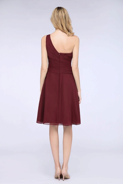 A-Line Chiffon One-Shoulder Sweetheart Sleeveless Knee-Length Bridesmaid Dress with Ruffles_36