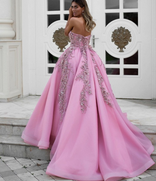 Latest Sweetheart Tulle Ball Gown Evening Dress_2