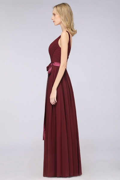 A-Line Chiffon Straps V-Neck Sleeveless Backless Floor-Length Bridesmaid Dress with Ruffles_39