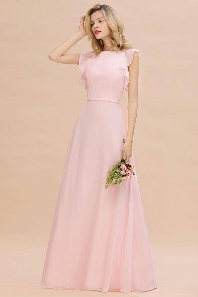 BM0783 Elegant Simple Jewel Sleeveless A-line Bridesmaid Dress_5