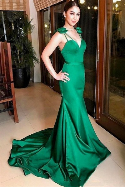 Excellent Sweetheart Satin Mermaid Evening Dress_1