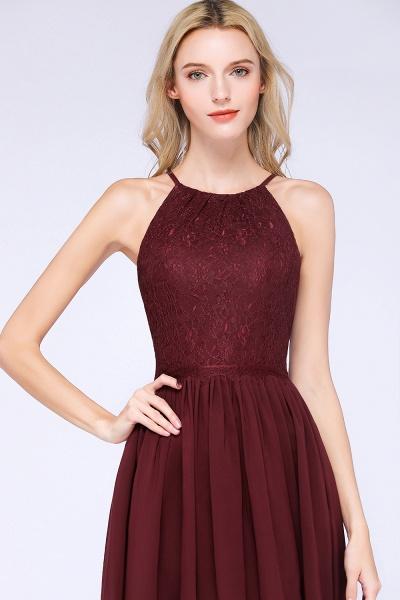 A-line Chiffon Lace Jewel Sleeveless Knee-Length Bridesmaid Dresses with Ruffles_55